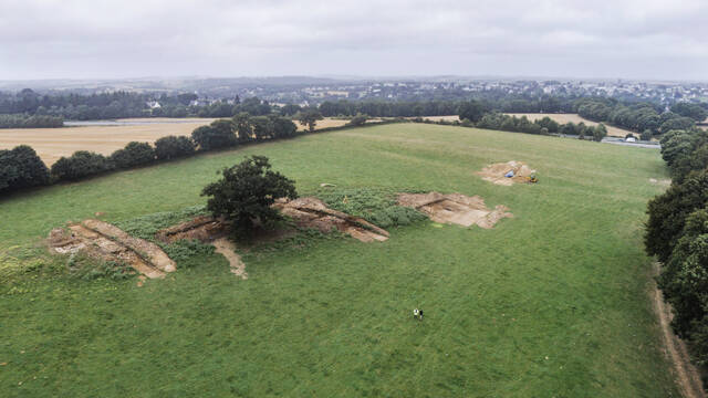 Le cairn de Goasseac'h à Carhaix (virtual-archeo)