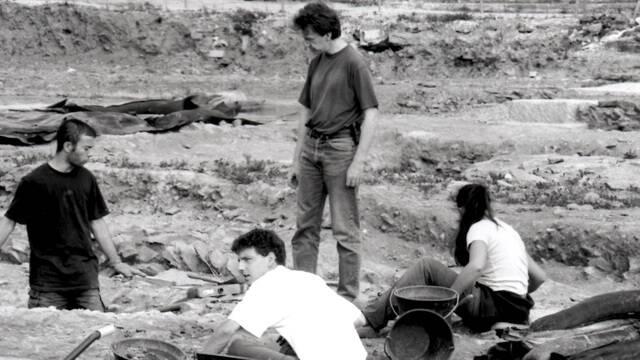 Les fouilles du terrain Manac'h à Carhaix (Crédit F. Keller)