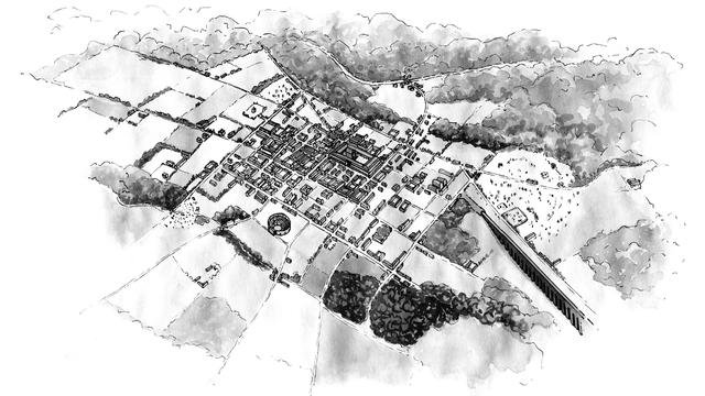 Vorgium, une ville dans l'Empire romain