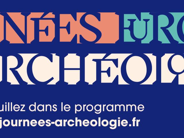 bandeau des journées européennes de l'archéologie 2020