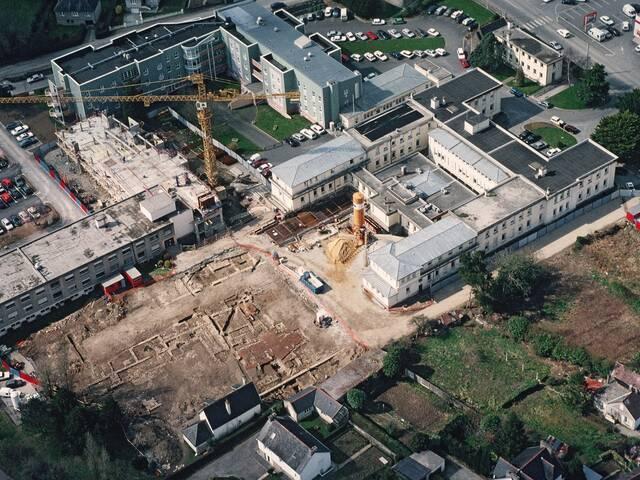 La fouille du centre hospitalier vue par Maurice Gautier en 1996