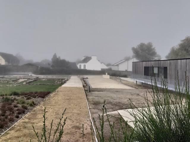 le jardin du centre d'interprétation Vorgium à Carhaix