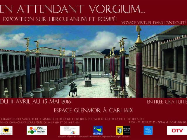 Affiche de l'exposition En Attendant Vorgium, prêtée par le MAV d'Ercolano