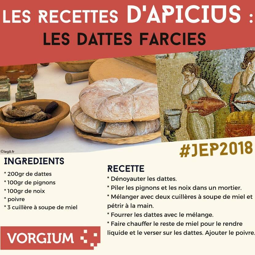 La friandise antique : dattes farcies