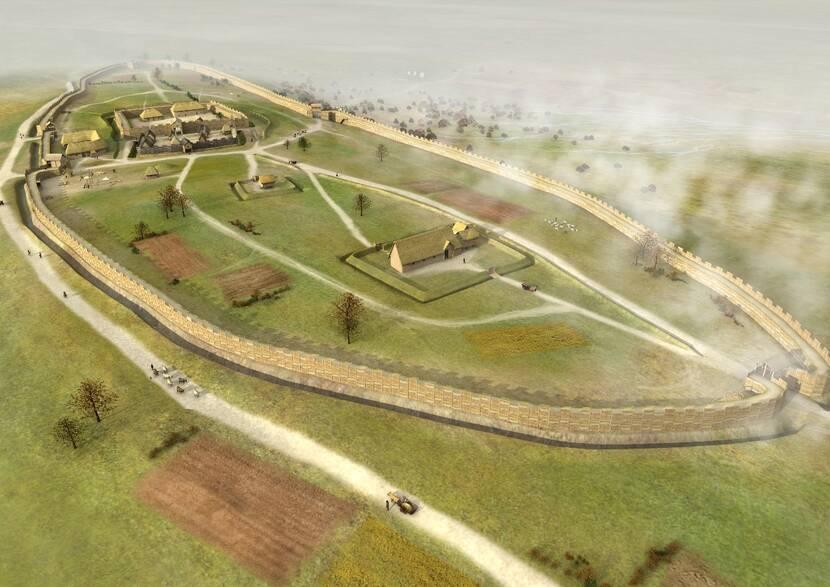 Restitution du camp fortifié aristocratique de Saint Symphorien à Paule (Laurence Stéphanon, Arts graphiques et Patrimoine)