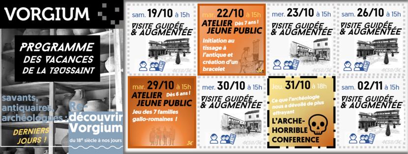 Programme des vacances de la Toussaint à Vorgium, Carhaix !